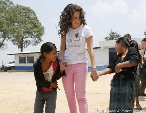 Me with girls from Santa Maria Chiquimula in a Girl Up-supported program (INSIDER IMAGES/Stuart Ramson)